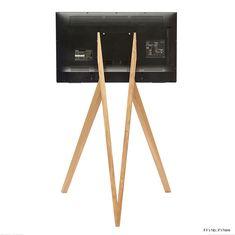 Simple, Elegant Wooden Tripod Stands for TVs and Monitors Tv Stand Tripod, Tripod Lamp, Media Cabinet, Tvs, Monitor, Elegant, Simple, Home Decor, Dapper Gentleman