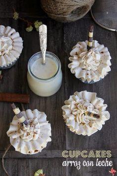 I like the frosting technique. Arroz con Leche Cupcakes