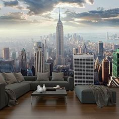 Walplus - Große New York Sonnenaufgang Tapete Foto Wandbild Innenraum Dekoration