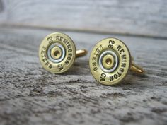 Shotgun Shell Cuff Links  Brass  Bullets by FancyRounds on Etsy, for my groomsmen :)