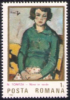Nicolae Tonitza Stamp Catalogue, Sculpture, Postage Stamps, Impressionist, Les Oeuvres, Art Gallery, Baseball Cards, Painting, Image
