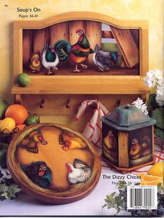 Cabin Fever - alita.pintura - Picasa Web Albums Book Crafts, Craft Books, Chicken Signs, Pintura Country, Tole Painting, Cabin Fever, Folk Art, Albums, Diy