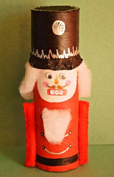 Nutcracker Toilet Paper Roll Craft | One of the best recycled crafts that kids will love.