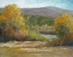 """Original Colorado Oil Landscape Painting """"On The Banks of the Gunnison"""" by Colorado Landscape Artist Barbara Churchley"""