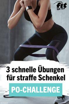 Kayla Itsines Po-Challenge: 3 schnelle Übungen für straffe Schenkel - FIT FOR FUN