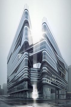 Located inside East village, the Greenland East Village CBED Plots comprises residential, office, retail spaces and a 486-metre tower. The design stays in line with the ice mountain concept, which expands to the continuity of the mountain range and landscape terrain with fissures located on the foot of the mountain.