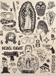 Mike Giant Tattoo Flash Poster | KYSA #ink #design #tattoo