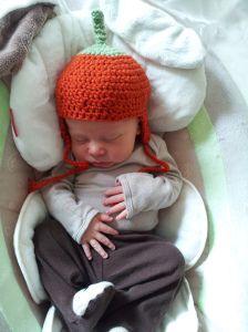 Pumpkin Hat, crochet pattern (how-to)