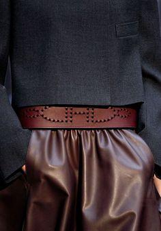Hermes low slung leather