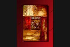Tableau Design Charming Composition : cadre tryptique Rouge