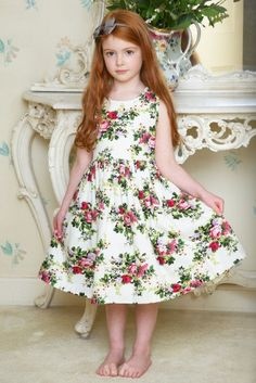 A 50's style dress for girls by Lulu & Flo