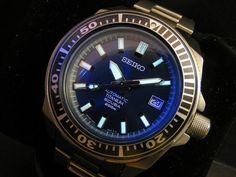 """Seiko SBDA003 Titanium """"Samurai"""" automatic diver"""