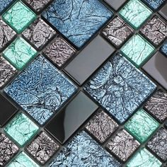 metallic mosaic tile design