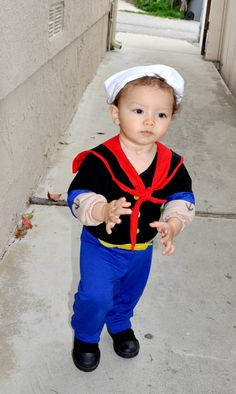 Wholesale Halloween Costumes - Popeye Infant Toddler Costume | Hunter | Pinterest | Wholesale halloween costumes Toddler costumes and Halloween costumes  sc 1 st  Pinterest & Wholesale Halloween Costumes - Popeye Infant Toddler Costume ...