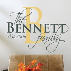 Custom Family Name & Initial Established Date by Stickitthere, $50.00