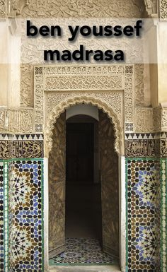 This is the oldest madrasa in North Africa and has beautiful Islamic art. Make the time to visit the Ben Youssef Madrasa when you're in Marrakech in Morocco.