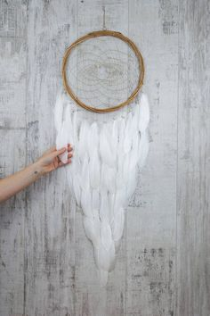 Long White Feather Dream Catcher Color Choice Boho Girls