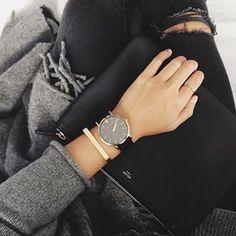 Black, gold, grey