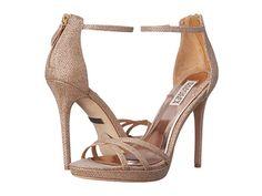 Womens Shoes Badgley Mischka Signify Latte Diamond Drill Fabric