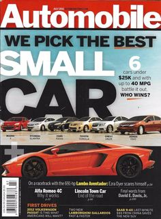 Automobile magazine Best small cars Lambo Aventador Alfa Romeo Lincoln Town