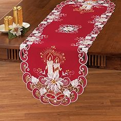 Embroidered Holiday Candle Red Table Linens Runner Collec... https://www.amazon.com/dp/B01LWNMDZD/ref=cm_sw_r_pi_dp_x_CL89xb7ZBCC7B