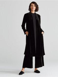I so want this velvet coat. It's timeless.