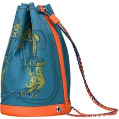 ece1dbfa1ec8 Soie-Cool Hermes sport chic bag in Galicia blue