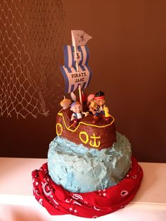 Pirate party cake.