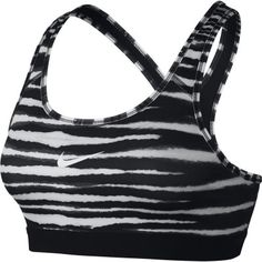 Nike Pro Classic Tiger Sports Bra Women's Black & White FA14