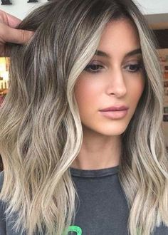 Blonde Hair Colour Shades, Ombre Hair Color, Hair Color Balayage, Cool Hair Color, Ashy Balayage, Hair Colour Ideas, Beige Hair Color, Haircolor, Nice Hair Colors