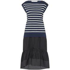 PHILLIP LIM Combo Sailor Dress ❤ liked on Polyvore featuring dresses, 3.1 phillip lim, 3.1 phillip lim dress, sailor dress, knee high dresses and knee length dresses