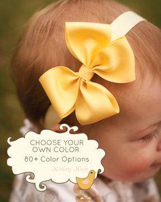 Baby Headband, Single Layer Pinwheel MEDIUM, Boutique Baby Headband Bow, More than 80 color options, infant headband