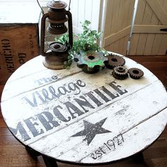 How to Make an Old Sign... on ANYTHING - I LOVE this table!!