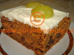 Detail receptu - Anglický zdravý mrkvový koláč Carrot Recipes, Cake Recipes, Healthy Cooking, Vanilla Cake, Banana Bread, Carrots, Food And Drink, Yummy Food, Sweets
