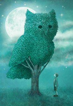 **The Night Gardener - Cover Art Print by Eric Fan.
