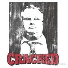 Funny 'Cracked' Rob Ford Vintage Distressed T-Shirt by Albany Retro