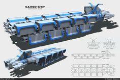 cargo ship sci fi concept art - Поиск в Google