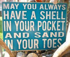 Beach Saying Sign. $30.00, via Etsy.