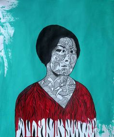 "Saatchi Art Artist Keyvan Heydari; Painting, ""Forough Farrokhzad"" #art"