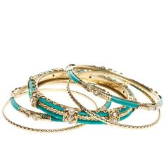 Gorgeous Bangles in Turquoise.