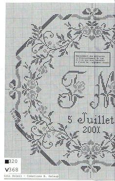 Cross Stitch Borders, Simple Cross Stitch, Cross Stitch Samplers, Cross Stitch Flowers, Cross Stitch Designs, Cross Stitching, Cross Stitch Embroidery, Cross Stitch Alphabet Patterns, Wedding Cross Stitch Patterns