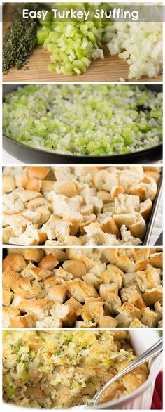 Easy Turkey Stuffing! The only recipe you need for Thanksgiving! #thanksgiving #stuffing #recipe #turkey