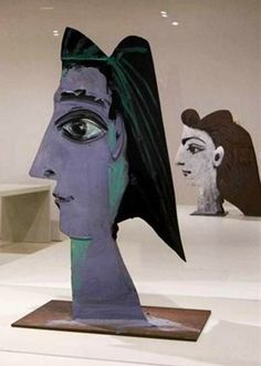 MALAGA, SPAIN - Woman (1961), in the Museo Picasso Málaga Collection, belongs to the extensive series of sheet-metal sculptures that Pablo Picasso made in the early 1960s.