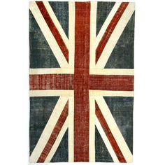 Union Jack Turkish Patchwork Rugs.  WANT!!