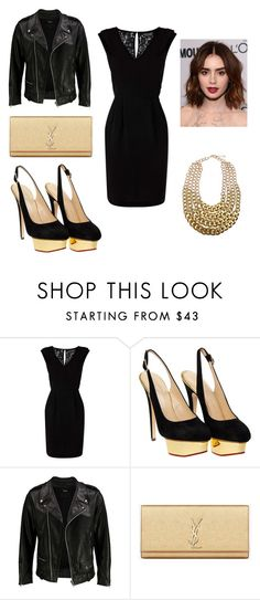 Don't give up on us , PLEASE by mar-01 on Polyvore featuring moda, Warehouse, VIPARO, Charlotte Olympia and Yves Saint Laurent