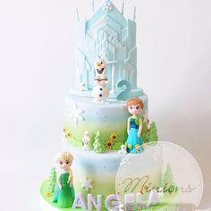 Gorgeous frozen fever cake #frozencake #frozen