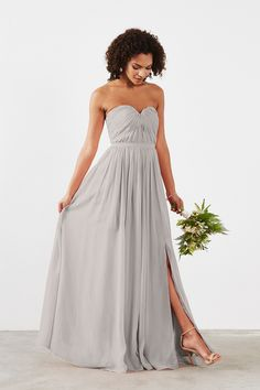 Shop Dove & Dahlia Bridesmaid Dress - Hailey in Poly Chiffon at Weddington Way. Find the perfect made-to-order bridesmaid dresses for your bridal party in your favorite color, style and fabric at Weddington Way.