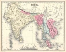 Antique map of India Wallpaper - - Ann Min - Wallpapers Designs Antique World Map, Vintage World Maps, World Map Wallpaper, India Map, Beaded Curtains, Animal Ears, Designer Wallpaper, 21st, Antiques