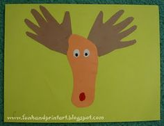 The classic Hand & Foot Reindeer or Moose craft