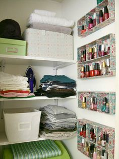 Keep Your Nail Polish in Order #homehacks #decluttering
